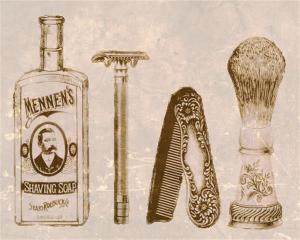 antique shaving supplies