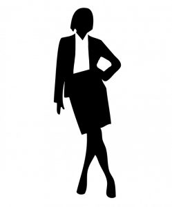 sophisticated woman silhouette