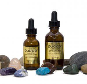 argan oil bottles