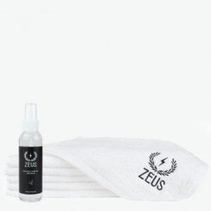 zeus steam mist and towel set