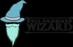 well groomed wizard logo